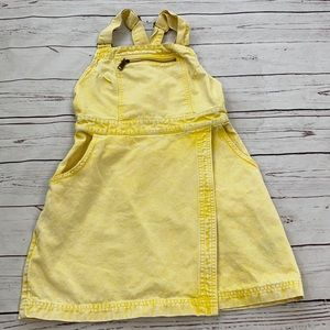 BDG Urban Outfitters Yellow Denim Overall skirt